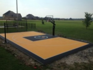 30'x50' Game court with custom logo