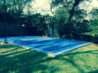 48'x36' court in bright blue and steel blue