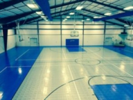 10,000 sq ft basketball and volleyball court