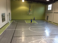 Indoor Bounce Back Commercial court in alloy and kiwi